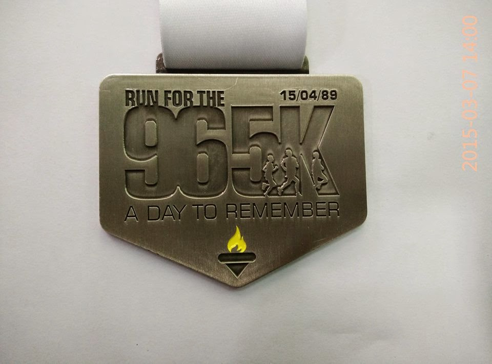 2015 Run For The 96 medal