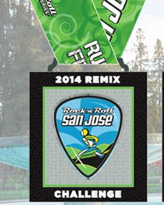 2014 Rock n Roll - San Jose Remix Medal